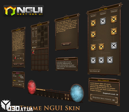 RPG Theme NGUI Skin