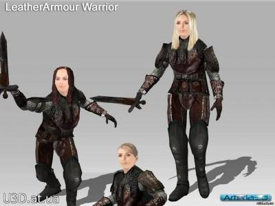 Arteria 3D Medieval Leather Armour Female