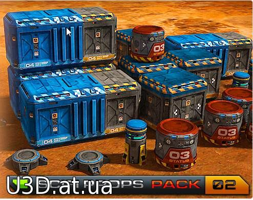 SciFi Base - Props Pack 02