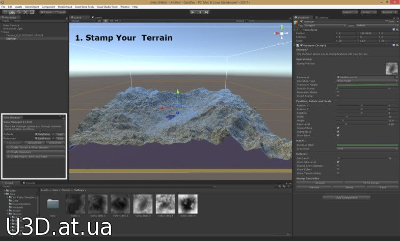 Gaia - Terrain Creation, Texturing, PopulRequires