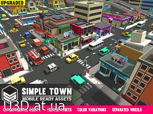 Simple Town - Cartoon Assets  V 11.01